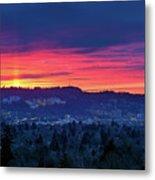 Sunset Over Marquam Hill Metal Print