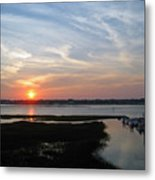 Sunset Over Murrells Inlet Metal Print