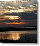 Sunset Over Navarre Metal Print