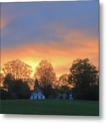 Sunset Over North Common Meadow Metal Print