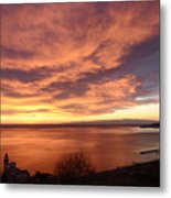 Sunset Over Portofino Metal Print