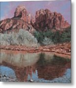 Sunset Over Red Rocks Of Sedona  Metal Print