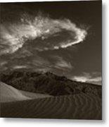 Sunset Over Sand Dunes Death Valley Metal Print