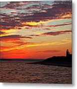 Sunset Over Sandy Neck Lighthouse Metal Print