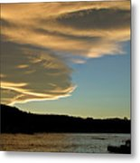 Sunset Over South Island Of New Zealand Metal Print