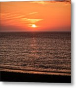 Sunset Over St. Ives Bay Metal Print