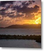 Sunset Over St. Thomas Metal Print