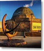 Sunset Over The Adler Planetarium Chicago Metal Print