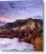 Sunset Over The American River Metal Print
