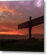 Sunset Over The Angel.  Metal Print
