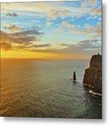 sunset over the Aran Islands Metal Print