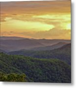 Sunset Over The Bluestone Gorge - Pipestem State Park Metal Print