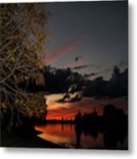 Sunset Over The Caloosahatchee Metal Print