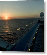 Sunset Over The Caribbean Sea As Seen Metal Print