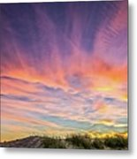 Sunset Over The Dunes Metal Print
