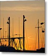 Sunset Over The Fleet Metal Print