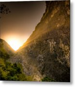 Sunset Over The Gorge Metal Print