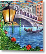 Sunset Over The Grand Canal - Venice Metal Print