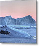 sunset over the Icefjord - Greenland Metal Print