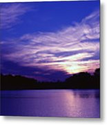 Sunset Over The Intercoastal Metal Print