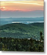 Sunset Over The Lakes Metal Print