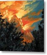 Sunset Over The Little Wekiva Metal Print