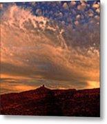 Sunset Over The Moab Rim 2 Metal Print