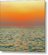 Sunset Over The Ocean In Galapagos Metal Print