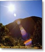 Sunset Over The Olgas Metal Print