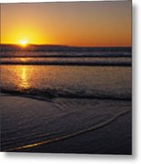 Sunset Over The Pacific Ocean Metal Print by Stacy Gold