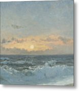 Sunset Over The Sea Metal Print by William Pye