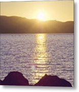 Sunset Over The Straits Metal Print by Cindy Garber Iverson