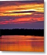 Sunset Over The Tomoka Metal Print