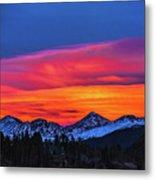 Sunset Over Torreys And Grays Peaks Metal Print
