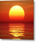 Sunset Over Tranqual Water Metal Print
