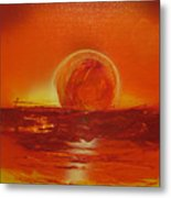 Sunset Over Troubled Waters Metal Print
