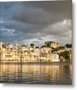 Sunset Over Udaipur Metal Print