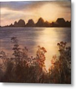 Sunset Over Westham Island Metal Print