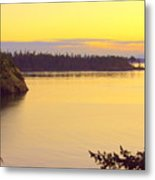 Sunset Over Widbey Island 8x12 Metal Print