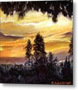 Sunset Over Wrightwood Metal Print