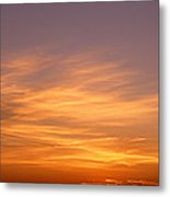 Sunset Ovr Lake Michigan Chicago Il Usa Metal Print