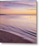 Sunset Paddle Metal Print