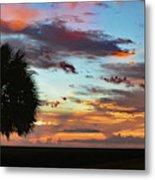 Sunset Palm Florida Metal Print