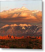 Sunset Panorama In Arches National Park Metal Print