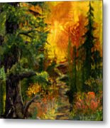 Sunset Path Metal Print