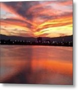Sunset Patterns Metal Print