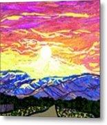 Sunset Pearblossom Highway Metal Print