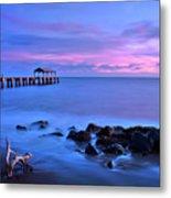 Sunset Pier Metal Print