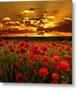 Sunset Poppies The Bbmf Metal Print