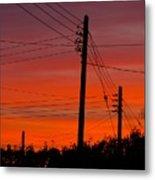 Sunset Power Metal Print